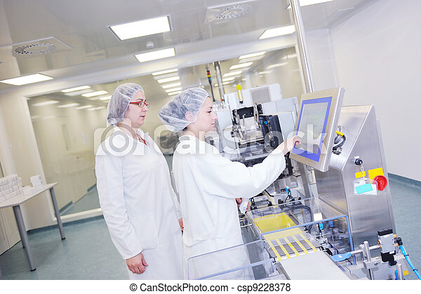interno, medico, produzione, fabbrica - csp9228378
