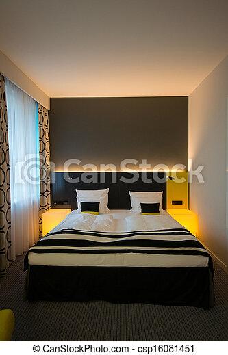 interno, moderno, camera letto - csp16081451