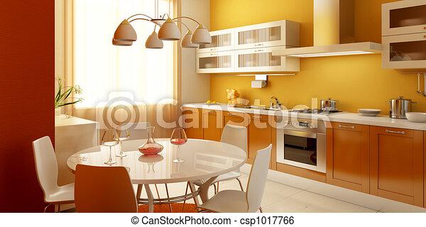 interno, moderno, cucina - csp1017766
