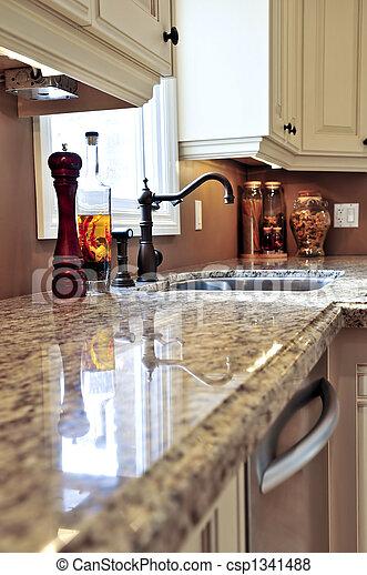 interno, moderno, cucina - csp1341488