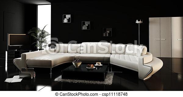 interno, moderno, disegno, render, 3d - csp11118748