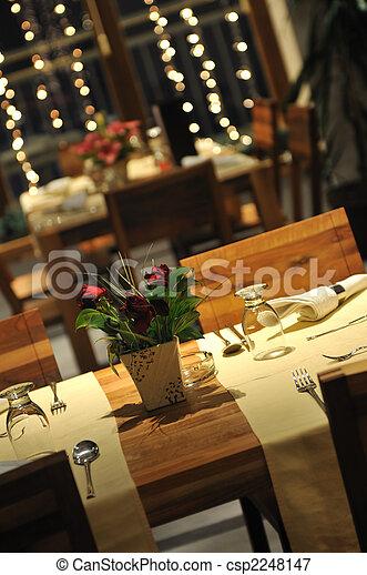 interno, moderno, lusso, ristorante - csp2248147