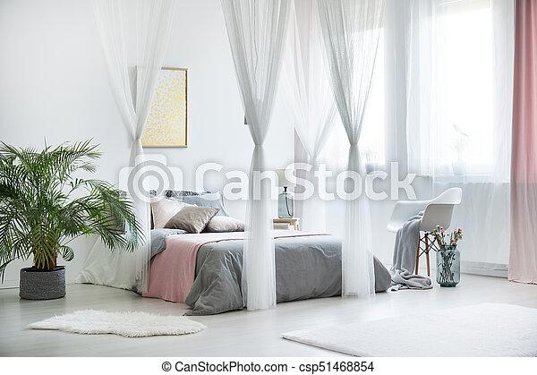 interno, pianta, sofisticato, camera letto - csp51468854