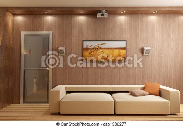 interno, render, 3d - csp1386277
