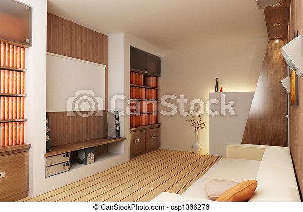 interno, render, 3d - csp1386278