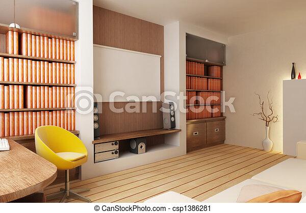 interno, render, 3d - csp1386281