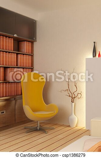 interno, render, 3d - csp1386279
