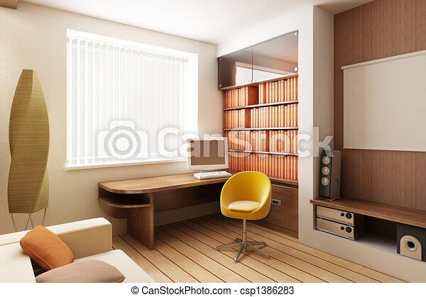 interno, render, 3d - csp1386283
