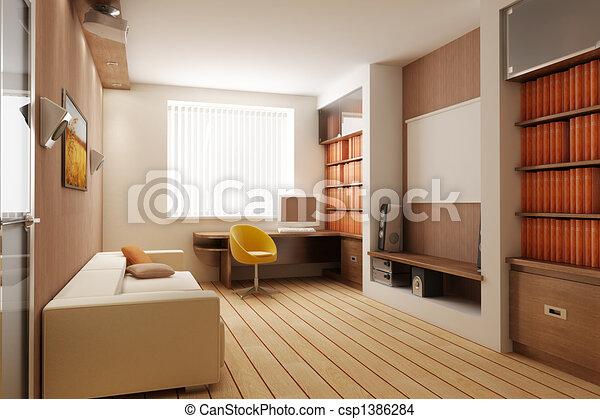 interno, render, 3d - csp1386284