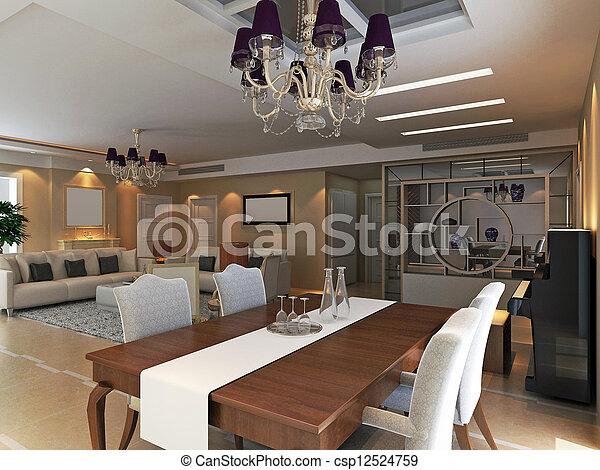 Interno soggiorno moderno render 3d render moderno for Interno moderno