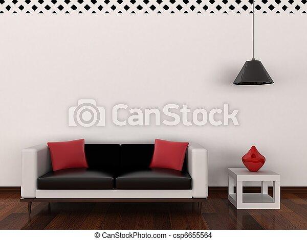interno, stanza moderna - csp6655564