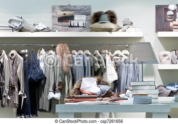 interno, tienda de ropa, venta al por menor - csp7261656