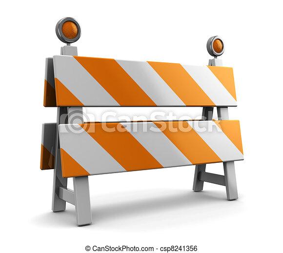 Bajo la barrera de la construcción - csp8241356