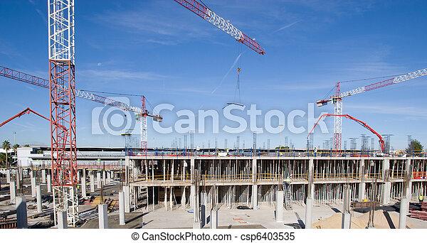 Sitio de construcción - csp6403535