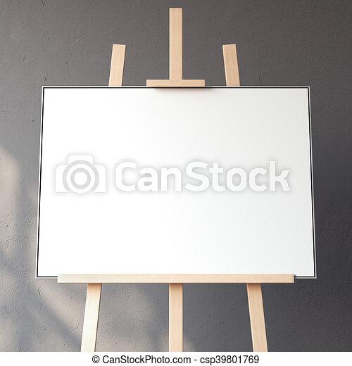 interpretazione, bianco, vuoto, canovaccio., 3d - csp39801769