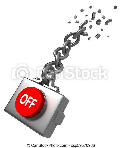 Abrocha la cadena - csp59570986