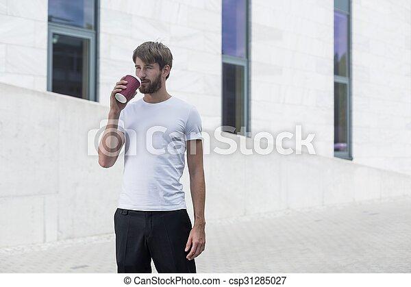 Descanso de café en el trabajo - csp31285027