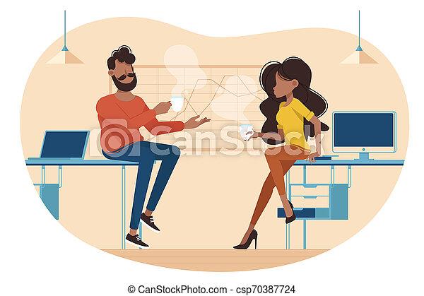 Descanso de café en el trabajo - csp70387724
