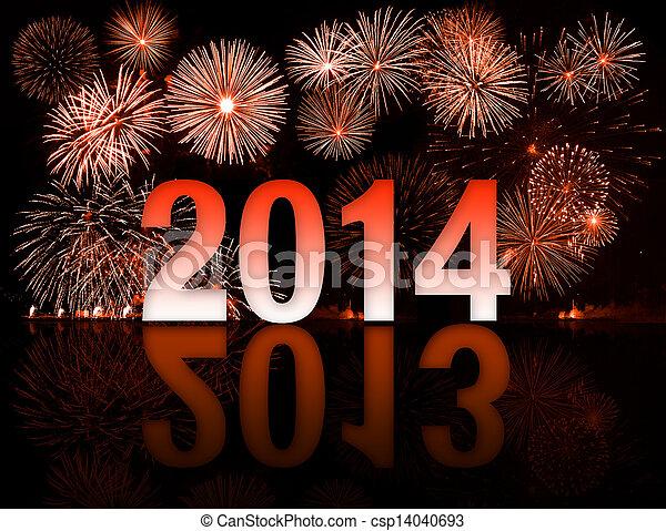 2013-2014 con fuegos artificiales - csp14040693