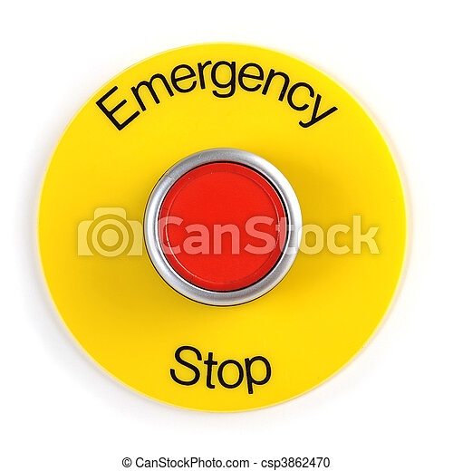 interruptor, parada, emergência - csp3862470
