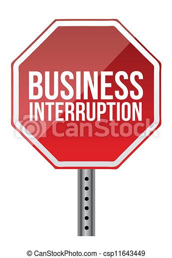 interruzione, affari firmano - csp11643449