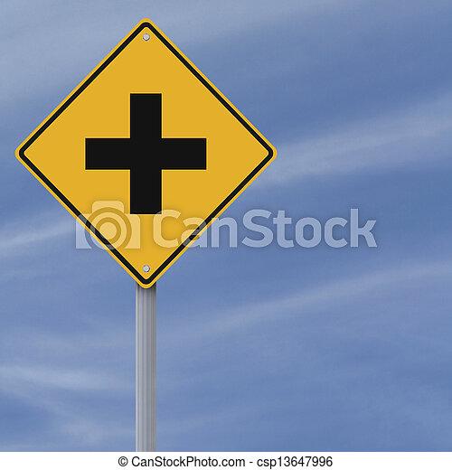 intersección, adelante - csp13647996