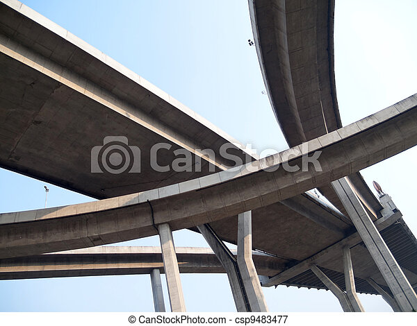 Intersection expressway - csp9483477