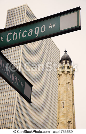 Intersection of CHicago and Michigan - csp4755639