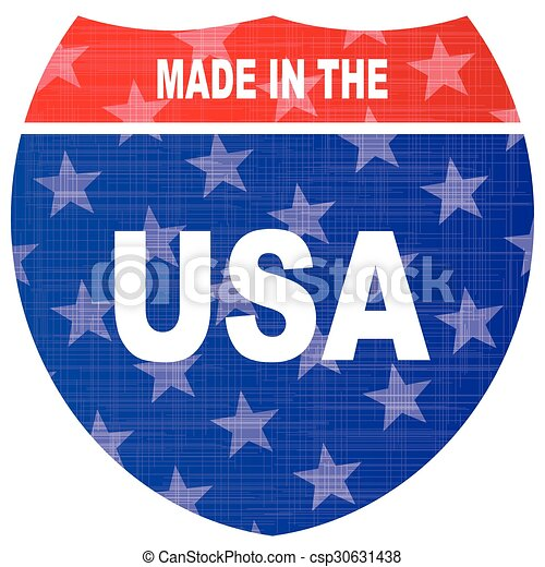 Interstate Made In The USA Sign - csp30631438
