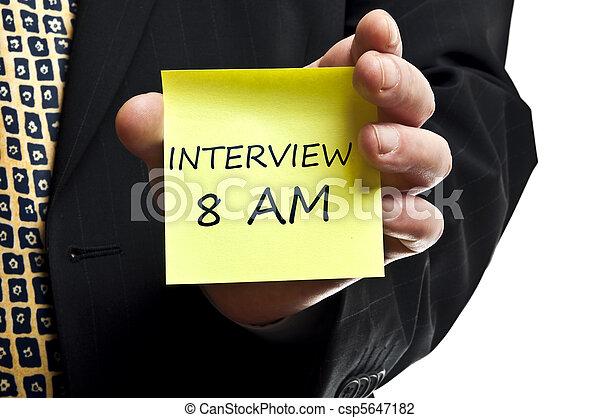 Interview 8 am - csp5647182