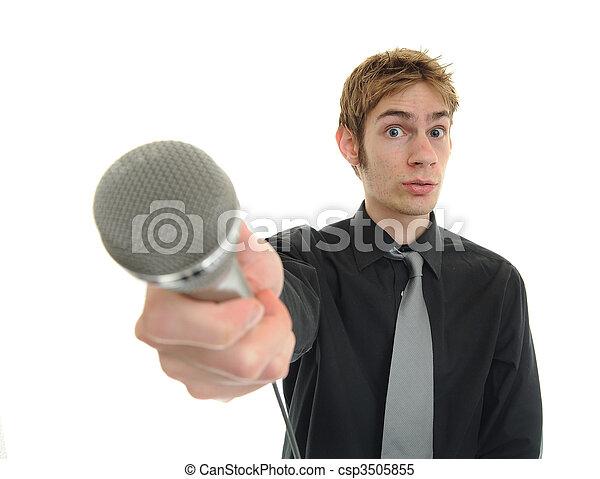 interview, nieuws, journalist, reporter - csp3505855