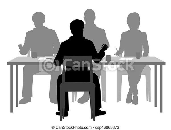 Interview panel - csp46865873