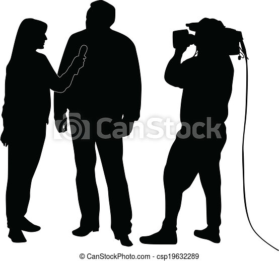 interview silhouette vector - csp19632289