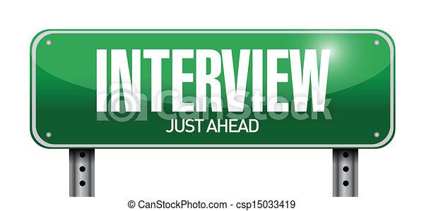 intervista, disegno, strada, illustrazione, segno - csp15033419