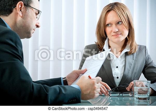 intervista, lavoro - csp3494547