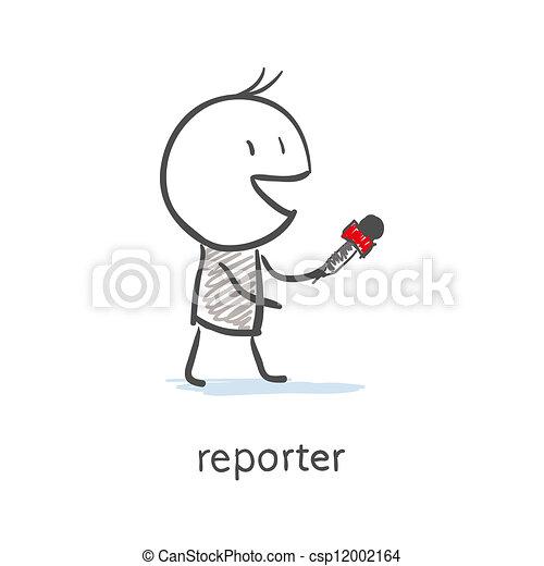 intervista, reporter - csp12002164