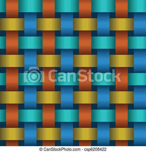 Interweaving color tapes - texture vector - csp6208422