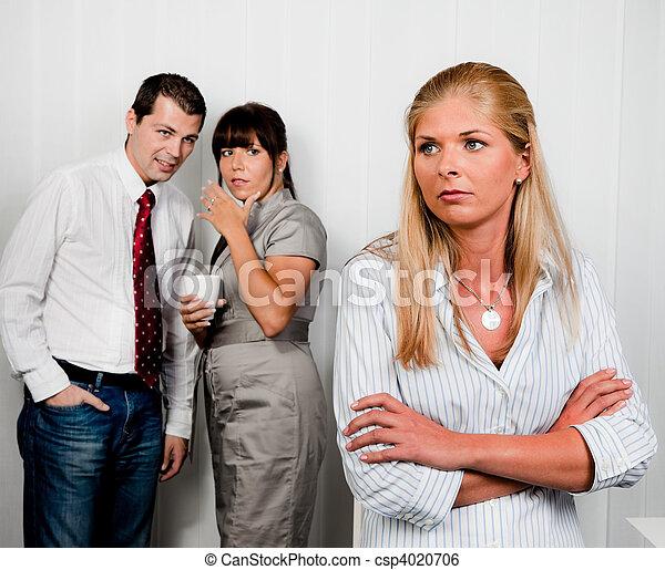 intimider, lieu travail, bureau - csp4020706
