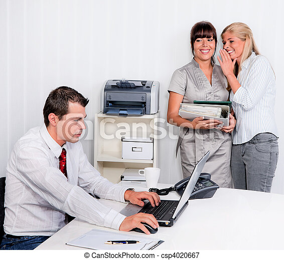 intimider, lieu travail, bureau - csp4020667
