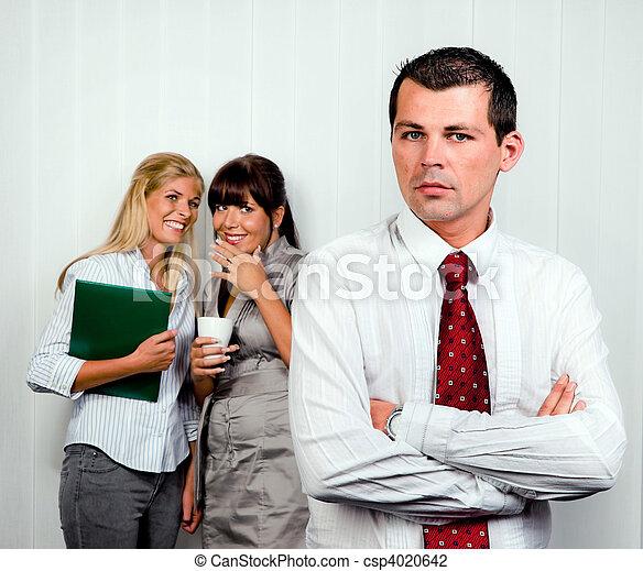 intimider, lieu travail, bureau - csp4020642