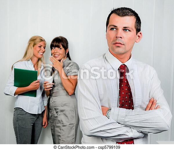 intimider, lieu travail, bureau - csp5799109