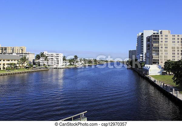 Intracoastal Waterway, Fort Lauderdale, Florida  - csp12970357