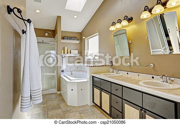 Bagno Marrone Moderno : Intrerior bagno marrone moderno colori beige marrone bagno