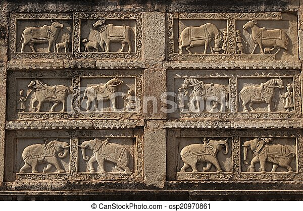 Intricate animal carvings bas relief carving of animals