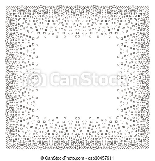 Intricate digital frame with small rectangles.