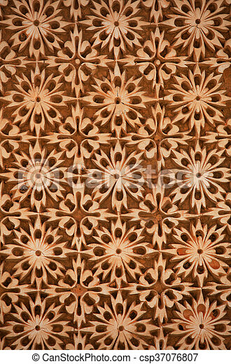 Intricate pattern on wall - csp37076807