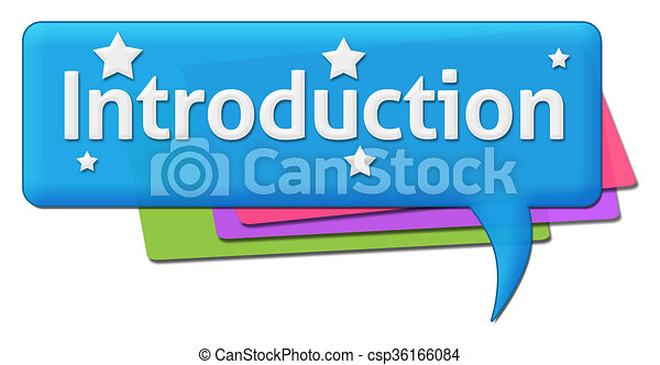 Introduction colorful comments . Introduction text written ...