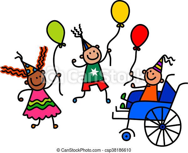 invalido, festa, ragazzo compleanno - csp38186610