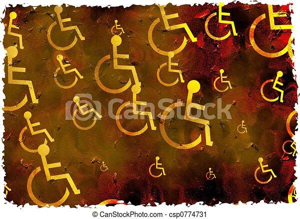 invalido, grunge - csp0774731