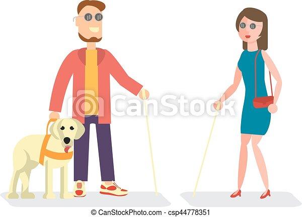 invalido, illustrazione, persone - csp44778351
